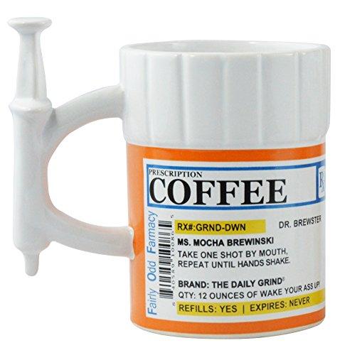 Fairly Odd Novelties Prescription Syringe Coffee Mug, 12-Ounce, White