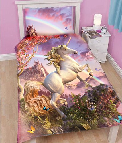 Wild star home awesome unicorn childrens duvet and pillowcase