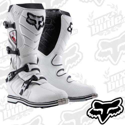 Fox MX F3 Race Boots 2010 - White - UK 10