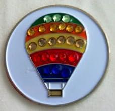 Metal Golf Ball Marker Hot Air Balloon Crystal Single Marker Onl