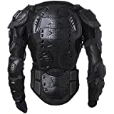 Men's Motorbike Motorcycle Protective Body Armour Armor Jacket Guard Bike Bicycle Cycling Riding Biker Motocross Gear Black (Large)