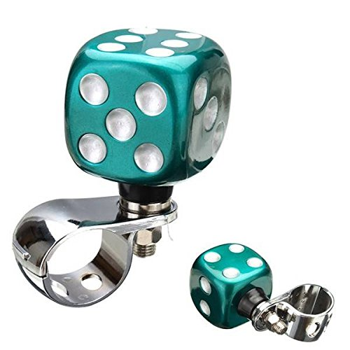 AUDEW Car Steering Wheel Ball Booster Resin Spinner Knob Grip Auxiliary Aid Control Handle Dice Design (Sure Grip Spinner Knob compare prices)