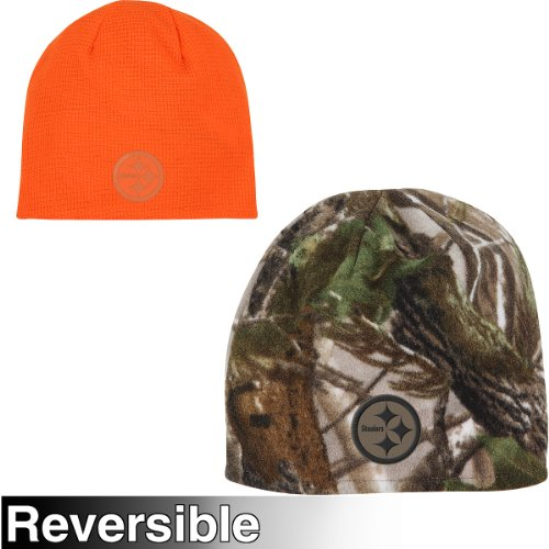 Reebok Pittsburgh Steelers Realtree Reversible Knit Hat One Size Fits All