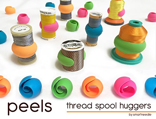 Find Cheap THREAD SPOOL HUGGERS, 'PEELS …Keep Thread Tails Under Control' (12 Pieces). Prevents Thread Spools From Unwinding While in Storage or on Thread Rack. Fits on Sewing, Quilting and Embroidery thread Spools. By Smartneedle