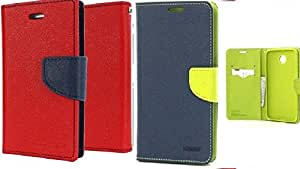 Generic 2 Mercury Dairy Flip Cover Combo For Samsung Z3 Red With Blue