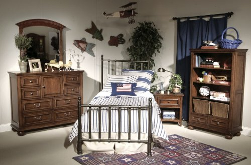 Cheap 490 American Spirit Off Black Metal Bedroom Set by Legacy Classic Kids (B0030NEO0Q)