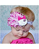 1 Pc Rose- Lovely Feather Head Wear Headband for Baby Newborn Toddler Girls