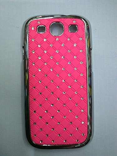 Maclogy 2014 Latest Fashion Design Luxury Dazzling Rhinestones Shiny Crystal Diamond Plating Protective Shell Trapped Difficult Cases Samsung Galaxy S3 I9300 And Fashion Chain Crystal Ornaments Color Uv Radiation Gifts (Pink)