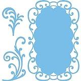 Marianne Design 3-Piece Frames and Swirls Creatable Die, Blue