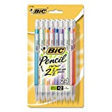 BIC Pencil Xtra Sparkle (colorful barrels), Medium Point (0.7 mm), 24-Count