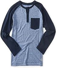 PS From Aeropostale Boys Long Sleeve Colorblock Pocket Henley Shirt