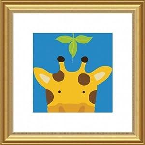 Barewalls Framed Art Print Wall Decor, Peek-a-Boo Giraffe