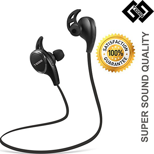 TAGG brings us these amazing wireless sports bluetooth headset with mic.  It comes with the following highlights:-  . Bluetooth 4.1 ensures superb stereo sound quality with high bass.   . Has a range of 10 feet.  . Has CVC6.0 noise cancellation.  . Nano coating technology protects it from getting damaged due to sweat during a workout.  . Built in rechargeable powerful lithium battery( 80 mAh) provides up to150 hours of standby time, 6-7 hours of talk time and 5 hours of play time.  For me personally, I really appreciate its ability to sit comfortably inside my ears and also the high bass. Its a win- win situation for both fitness freaks and music lovers.