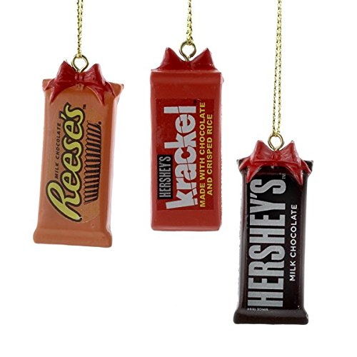Reeses, Hersheys & Krackel Chocolate Bar Ornament