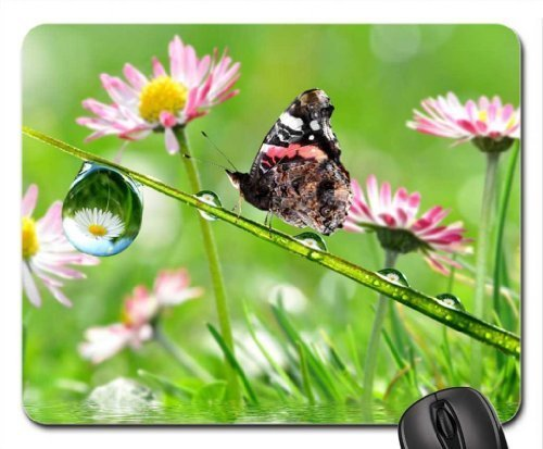 After Rain Mouse Pad, Mousepad (Butterflies Mouse Pad)