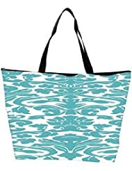 Snoogg Motif Print Waterproof Bag Made Of High Strength Nylon
