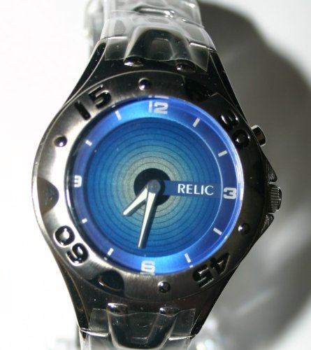 Mens Blue Ocean Colour Graphic Designer Watch Relic of Fossil Limited Edition