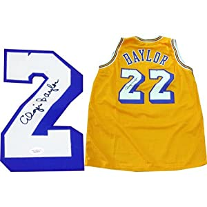 Elgin Baylor Autographed Los Angeles Lakers Jersey by Hollywood+Collectibles