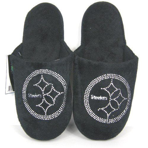 Cheap Pittsburgh Steelers Womens Jeweled Slippers (B006KYR904)