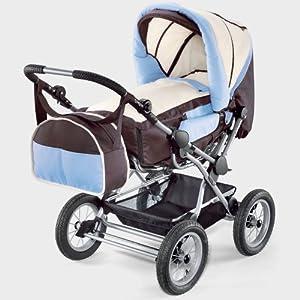 babywalz kombi kinderwagen braun bleu beige babywalz. Black Bedroom Furniture Sets. Home Design Ideas