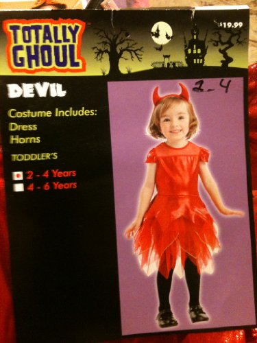 Girls Toddlers Devil Costume 2-4