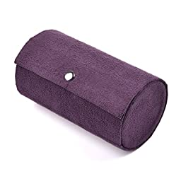 KLOUD City® 3 Tier Purple Travel Roll Up Jewelry Box Case Organizer Holder with Snap Closure