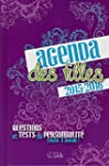 Agenda des filles 2015-2016: Question...