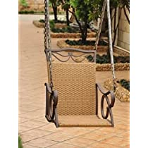 VALENCIA RESIN WICKER and STEEL PATIO or PORCH CHAIR SWING - PATIO FURNITURE