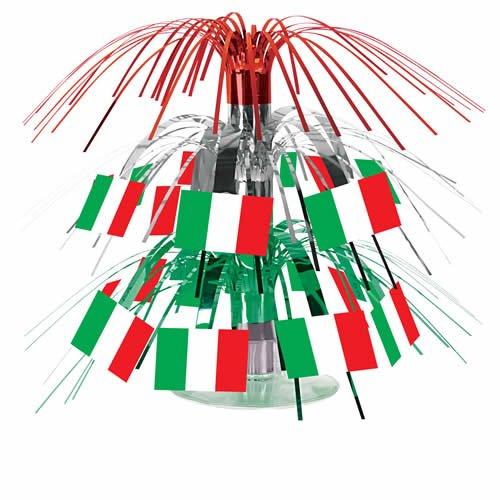 Italian Flag Mini Cascade Centerpiece Party Accessory (1 count) (1/Pkg)