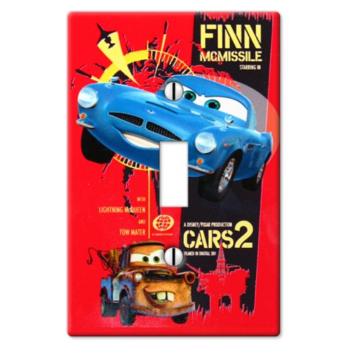 Disney Cars 2 - 1 Toggle Wallplate - 1