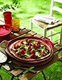 """Emile Henry Made In France Flame Pizza Stone, 14.6 x 14.6"""", Charcoal"""