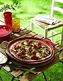 "Emile Henry Flame Pizza Stone, 14.6 x 14.6"", Burgundy"