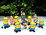 Bossel Set of 10pcs Despicable me 2 Cute Movie Character Cute Figures Minions Doll Toy