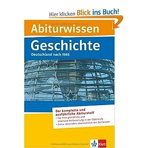 eBook Cover für  Abiturwissen Geschichte Deutschland nach 1945