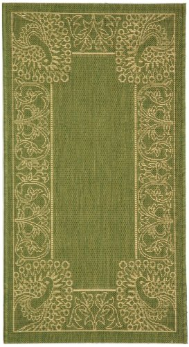 Courtyard Rug CY2965 Olive Natural 2ft x 4ft