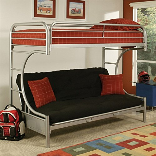 Acme Furniture 02091W-SI Eclipse Twin/Full/Futon Bunk Bed (Twin Over Full Futon compare prices)