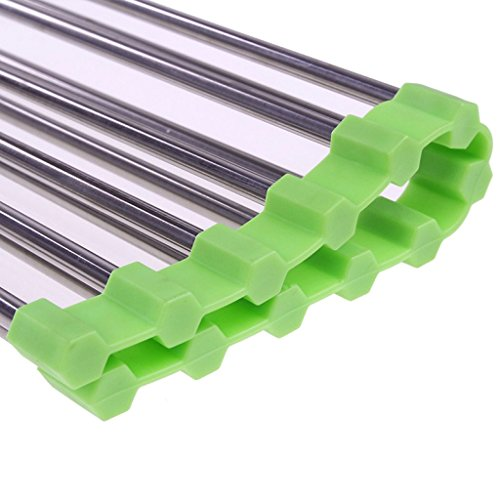Zelta Stainless Steel Over the Sink Roll Up Kitchen Dish Drying Grid with Silicone End (Over Sink Tray compare prices)