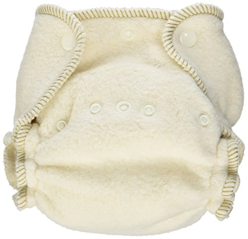 Kissaluvs Cotton Fleece Fitted Diaper, Unbleached, 0 - Newborn 5-15Lbs front-1016508