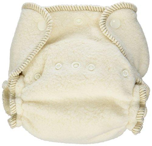 Kissaluvs Cotton Fleece Fitted Diaper, Unbleached, 0 - Newborn 5-15Lbs front-1016508