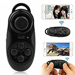 New Bluetooth Selfie Shutter Remote Control Gamepad Wireless Mouse For IOS Android PC Hot Sale (Black)