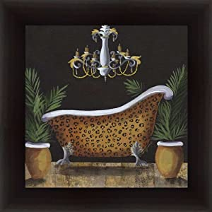 Safari sink in leopard bathroom d cor for Safari bathroom ideas