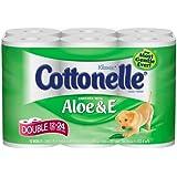 Kleenex Cottonelle Aloe & E Double Toilet Paper, 260-Sheet Double Rolls, 12-Count Packs (Pack of 4)