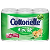 Kleenex Cottonelle Aloe & E Double Toilet Paper, 260-Sheet Double Rolls, 12-Count Packs (Pack of 4) ~ Kleenex