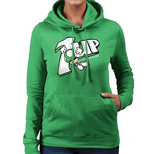 1up-super-mario-bros-green-mushroom-7up-logo-womens-hooded-sweatshirt