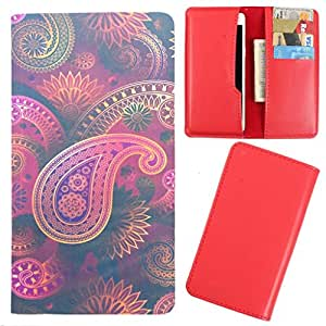 DooDa - For Karbonn A8 Star PU Leather Designer Fashionable Fancy Case Cover Pouch With Card & Cash Slots & Smooth Inner Velvet