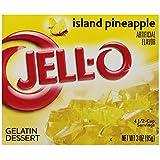 JELL-O Gelatin Dessert, Island Pineapple, 3-Ounce