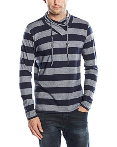 SIDECAR Camiseta Manga Larga Daniel Gris / Azul