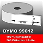 6 x Dymo Label 99012 89x36 mm 6 x 260...