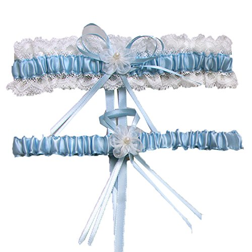 Aurora Bridal® Wedding Accessories Lace Garter for Bridal Blue