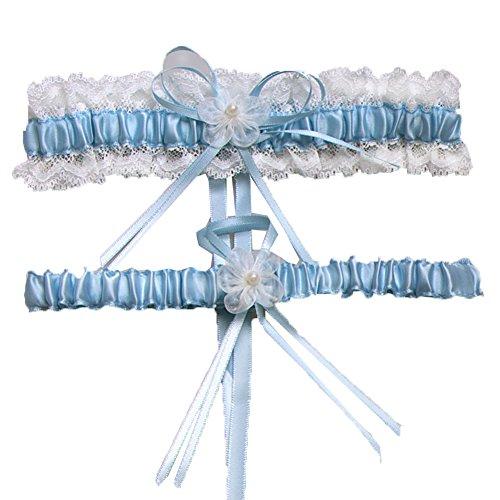 Aurora Bridal® Wedding Accessories Lace Garter for Bridal Blue